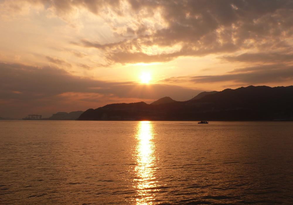 さぎの夕陽